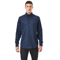 G-star panelled pkt slim shirt