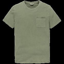 Cast Iron r-neck garment dyed
